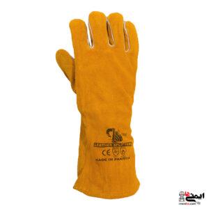 دستکش جوشکاری چرم - دستکش هوبارت