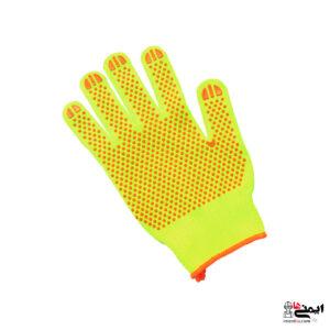 دستکش خالدار بافتنی - دستکش کار