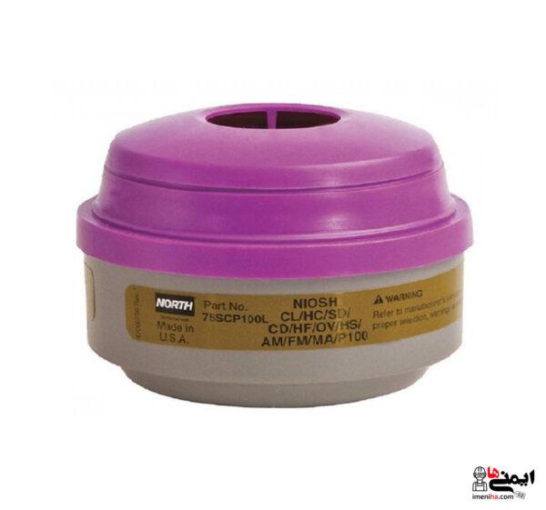 فیلتر ترکیبی مولتی گاز و بخار با ذرات North 75scp100L